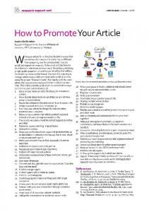 How to Promote Your Article (How to Increase Citations)
