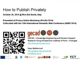 How to Publish Privately