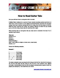 How to Read Guitar Tabs - Guitar Lessons in Seconds