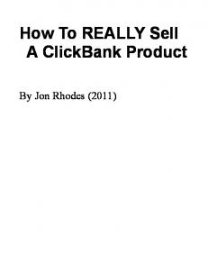 How To REALLY Sell A ClickBank Product - Gastric Band ...