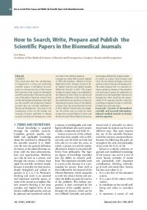 how to search, Write, Prepare and Publish the Scientific Papers in the ...
