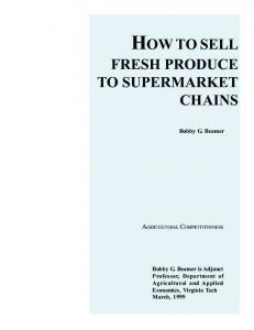 HOW TO SELL FRESH PRODUCE TO SUPERMARKET CHAINS ...