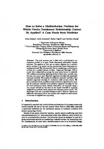 How to Solve a Multicriterion Problem for Which Pareto Dominance ...