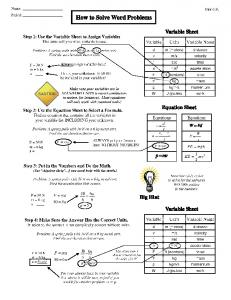 How to Solve Word Problems - Cobb Learning