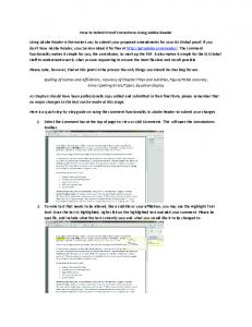 How to Submit Proof Corrections Using Adobe Reader Using Adobe ...