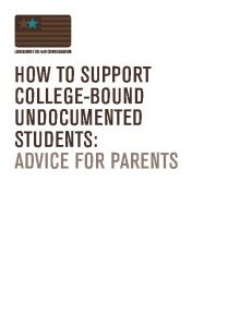 how to support college-bound undocumented students