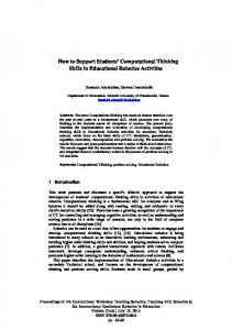 How to Support Students' Computational Thinking Skills in ...