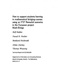 How to support students learning in mathematical bridging-courses ...