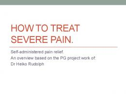 how to treat severe pain.