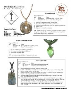 How to Use Pendant Cords - Rings & Things
