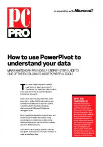 How to use PowerPivot to understand your data - PC Pro