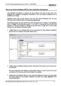 How to use the Sun NetBeans IDE for Java Application Development