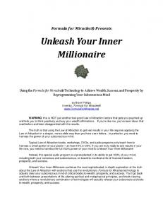 How to Use Unleash Your Inner Millionaire