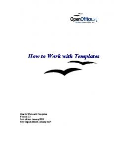 How to Work with Templates