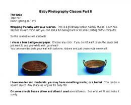 How to Wrap Baby - Baby Photography Classes