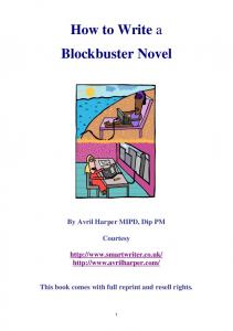 How to Write a Blockbuster Novel
