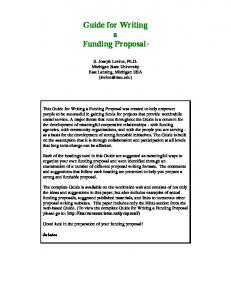 How to write a funding proposal