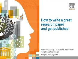 How to write a great research paper and get published