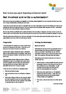 How to write a law reform submission