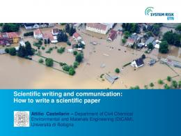How to write a scientific paper Attilio Castellarin