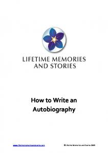 How to Write an Autobiography