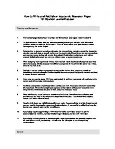 How to Write and Publish an Academic Research Paper.pdf
