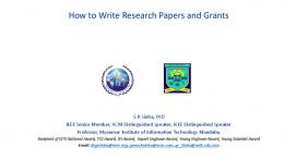 How to Write Research Papers and Grants