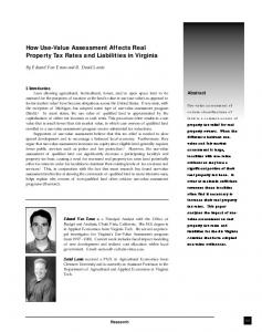 How Use-Value Assessment Affects Real Property Tax ... - CiteSeerX