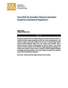How Well do Canadian Distance Education Students ... - irrodl