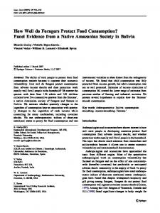 How Well do Foragers Protect Food Consumption? Panel Evidence ...