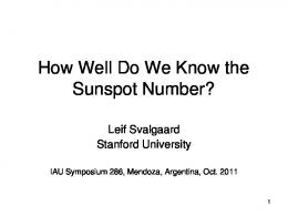 How Well Do We Know the Sunspot Number? - Leif