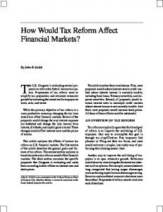 How Would Tax Reform Affect Financial Markets? - Federal Reserve ...
