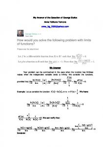 How would you solve the following problem with limits ...