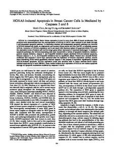 HOXA5-Induced Apoptosis in Breast Cancer Cells Is Mediated by ...