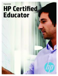 HP Certified Educator Program Guide