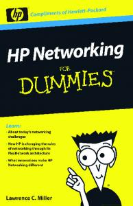 HP Networking For Dummies® - Westcon