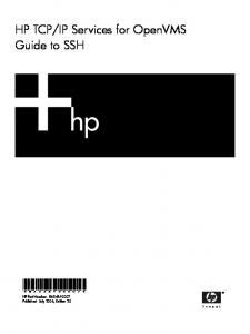 Cover Letter for HP OpenVMS Version 8 3–1H1 for Integrity