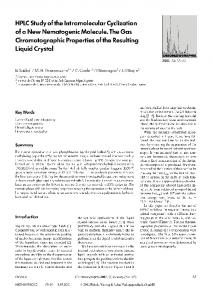 HPLC study of the intramolecular cyclization of a new ... - Springer Link