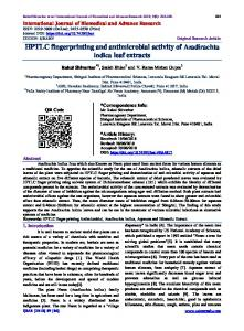 HPTLC fingerprinting and antimicrobial activity of ...
