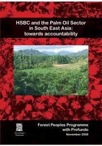 HSBC and the Palm Oil Sector in South East Asia
