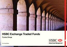HSBC ETFs Range - HSBC Exchange Traded Funds