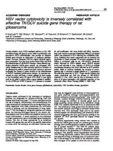 HSV vector cytotoxicity is inversely correlated with effective ... - Nature