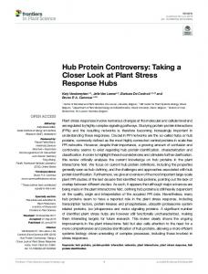 Hub Protein Controversy: Taking a Closer Look at ... - Semantic Scholar