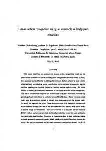 Human action recognition using an ensemble of