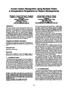 Human Action Recognition using Multiple Views: A Comparative ...