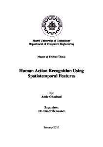 Human Action Recognition Using Spatiotemporal ... - Amir Ghodrati