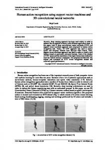 Human action recognition using support vector ...