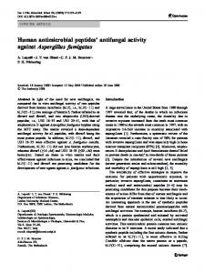 Human antimicrobial peptides' antifungal activity ... - Springer Link