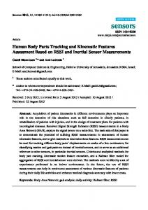 Human Body Parts Tracking and Kinematic Features ... - BioMedSearch