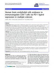 Human brain endothelial cells endeavor to ... - ScienceOpen